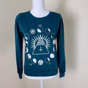 Truly Madly Deeply Crewneck Sweatshirt Teal XS